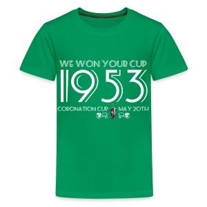 1953 Coronation Cup - Teenage Premium T-Shirt