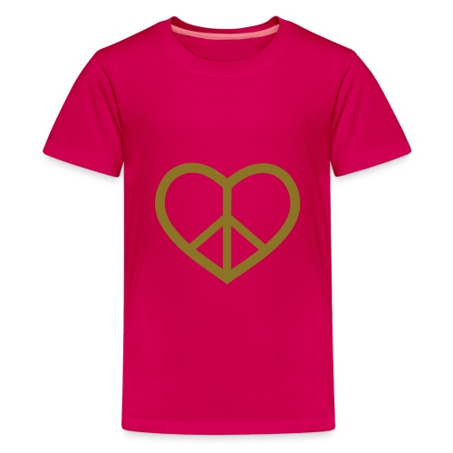 Girls Heartpeace shirt - Premium T-skjorte for tenåringer