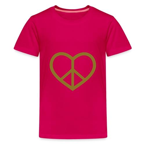 Girls Heartpeace shirt - Premium T-skjorte for tenåringer