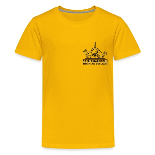 Klub-T-Shirt (Kinder) mit schwarzem Klublogo - Teenager Premium T-Shirt