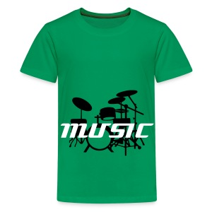 Music (with Drums) - Teenage Premium T-Shirt