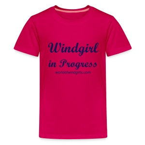 4kids: Windgirl in Progress - Teenage Premium T-Shirt