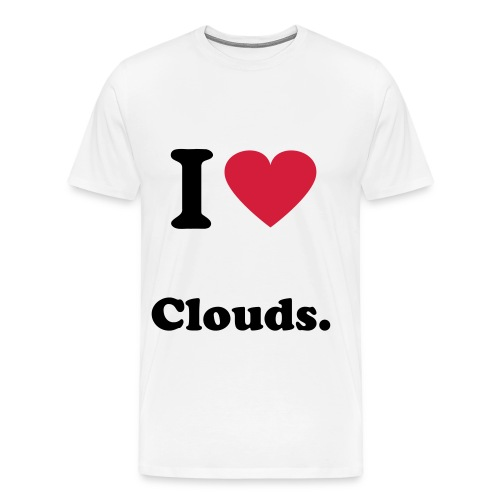 Cloudly. I LOVE CLOUDS - Männer Premium T-Shirt
