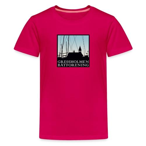 barn, klassisk, rosa - Premium T-skjorte for tenåringer