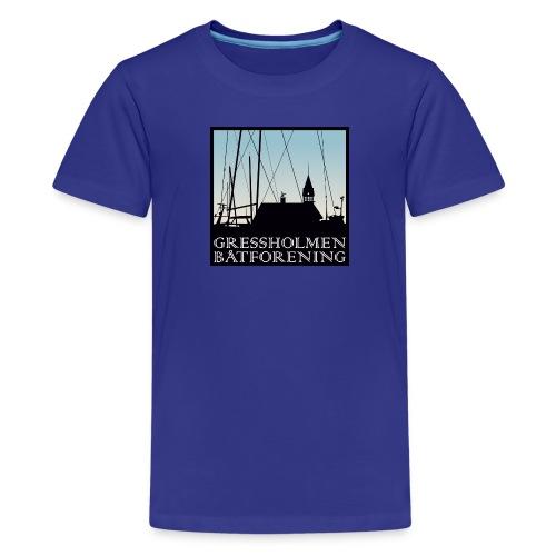 barn, klassisk, turkis - Premium T-skjorte for tenåringer