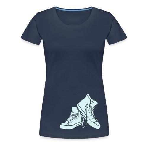 just walk - Frauen Premium T-Shirt