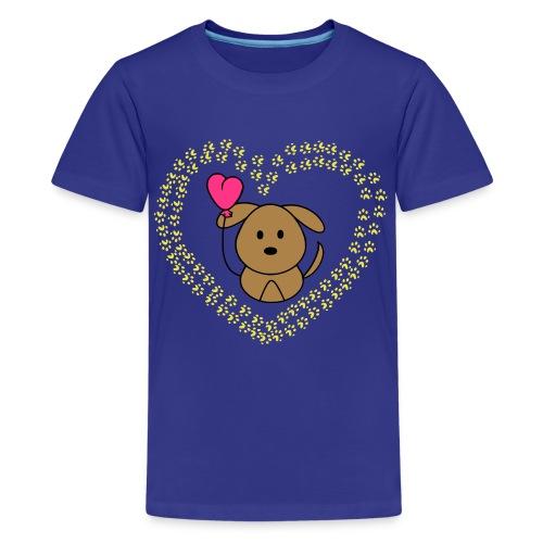 Teenager Premium T-Shirt - (sweet,). (hund,).