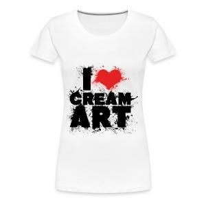 T-shirt I LOVE CREAMART splash Femme cintré - T-shirt Premium Femme