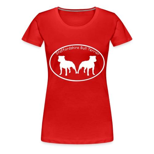 'Staffordshire Bull Terrier' Womens Tee - Women's Premium T-Shirt