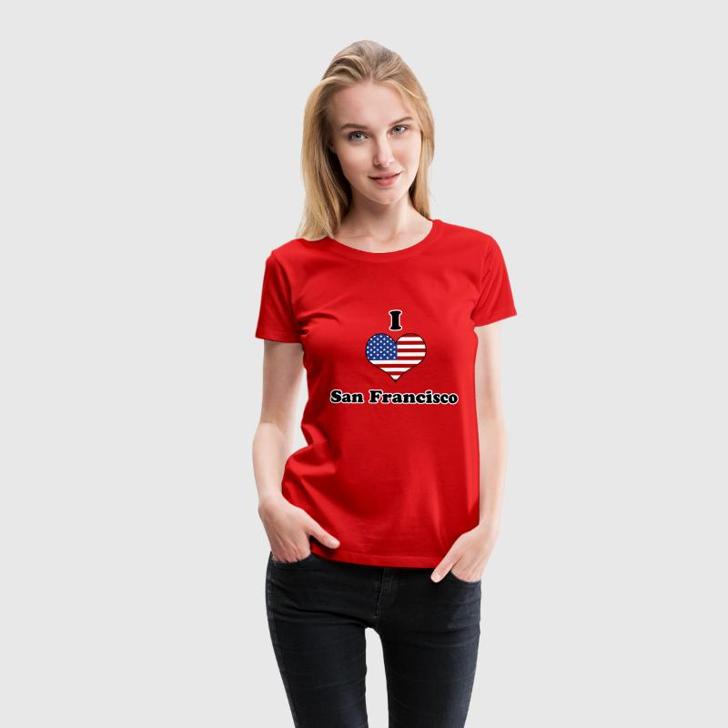 I love San Francisco T-Shirts - Frauen Premium T-Shirt