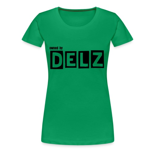 Girl-Breast owned by Delz  (weiß) - Frauen Premium T-Shirt