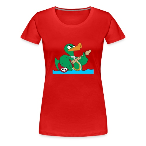 Girly-Shirt duck@rock Logo: gelb - Frauen Premium T-Shirt