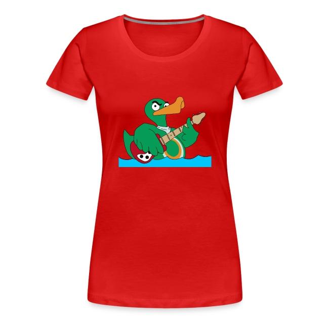 Girly-Shirt duck@rock Logo: gelb