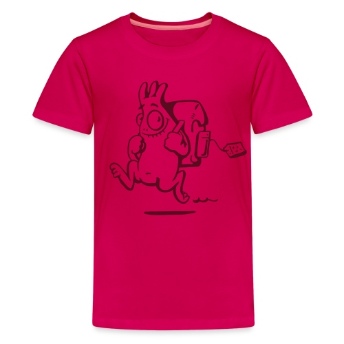 Schulviech rosa - Teenager Premium T-Shirt