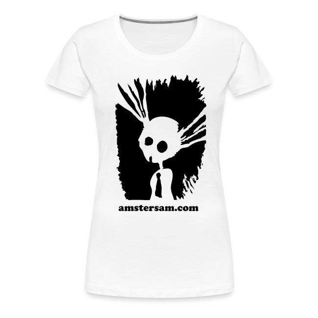 Women's Girlie Shirt 'Suicide Bunny' White/Black