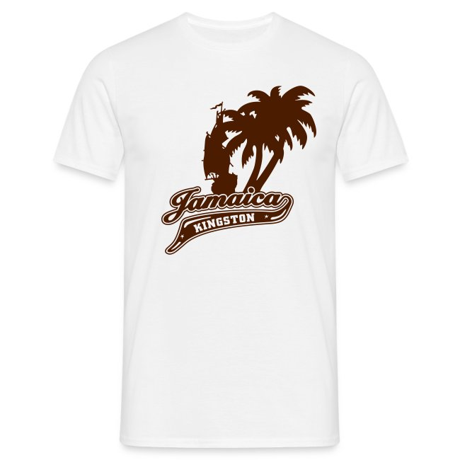 sandfarbenes Männer-t-Shirt Jamaica Kingston