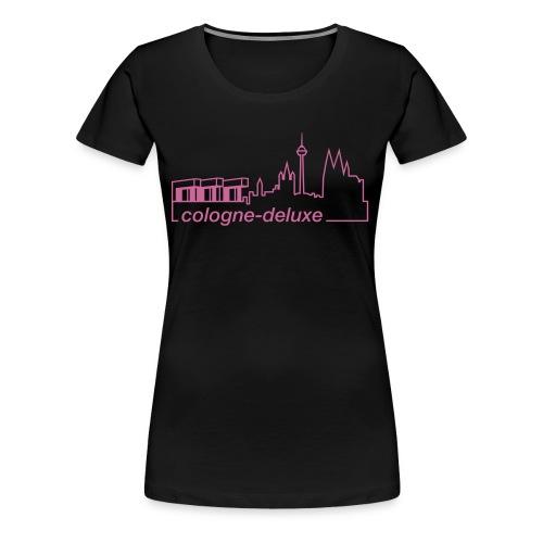 einfarbiges Köln Deluxe Skyline Motiv - Frauen Premium T-Shirt