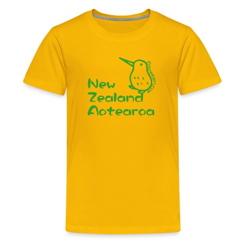 New Zealand's Map - Teenage Premium T-Shirt