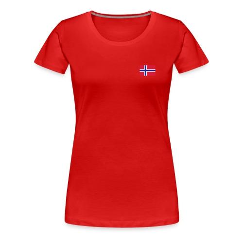 Premium T-skjorte for kvinner - Norge