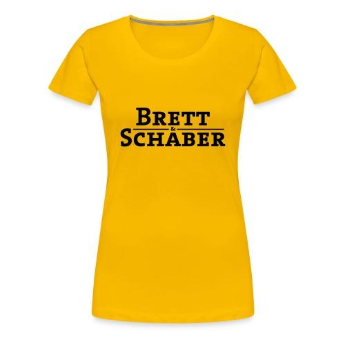 Brett & Schaber spätzlegelb mädle - Frauen Premium T-Shirt