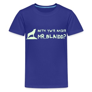 Mr. Blaidd / What's the time Mr. Wolf? - Teenage Premium T-Shirt