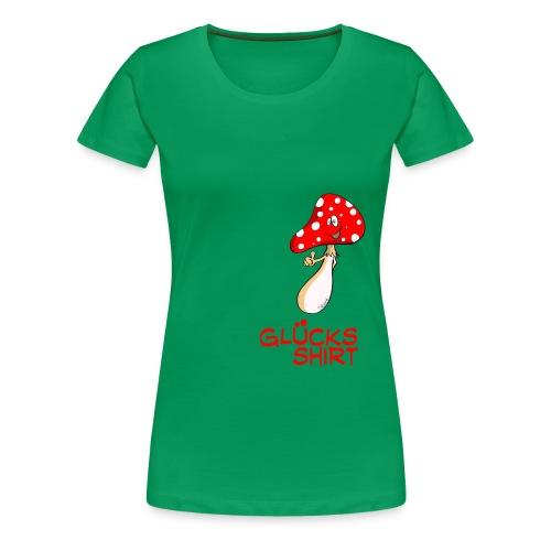 Glücksshirt - für besonders viel Glück - Frauen Premium T-Shirt
