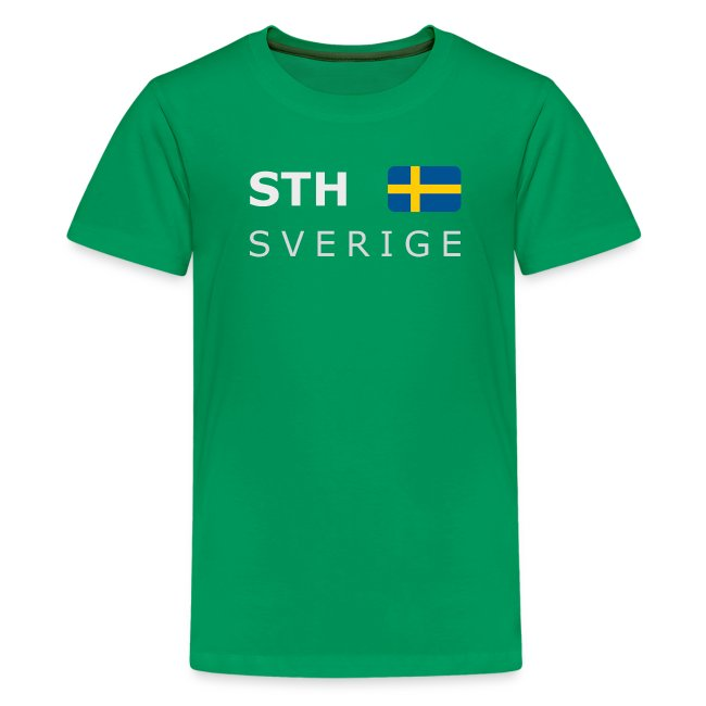 Teenager T-Shirt STH SVERIGE white-lettered
