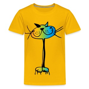 Happy cat t-shirt - Teenager Premium T-Shirt