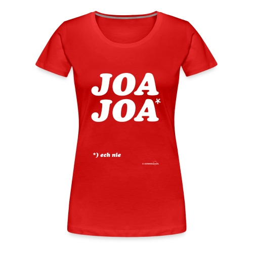 JoaJoa (witte opdruk) - Vrouwen Premium T-shirt