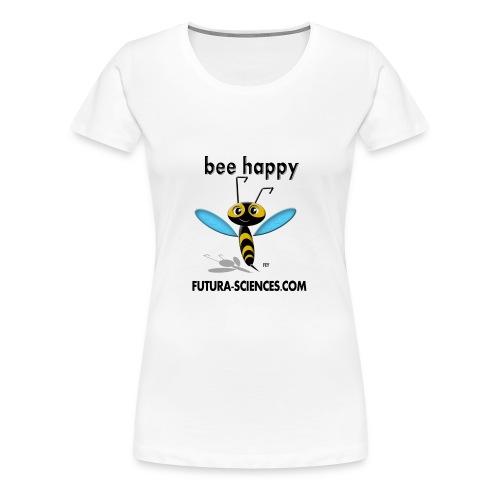Abeille Bee happy femme blanc - T-shirt Premium Femme