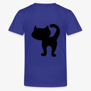 Back and front kitty cat - Teenage Premium T-Shirt