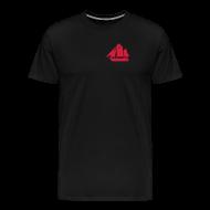 T-Shirts ~ Männer Premium T-Shirt ~ Zeesboot Silhouette auf dunkel