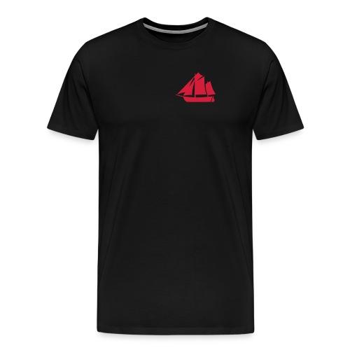 Zeesboot Silhouette auf dunkel - Männer Premium T-Shirt