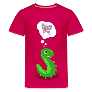 Raupe Schmetterling - Teenager Premium T-Shirt