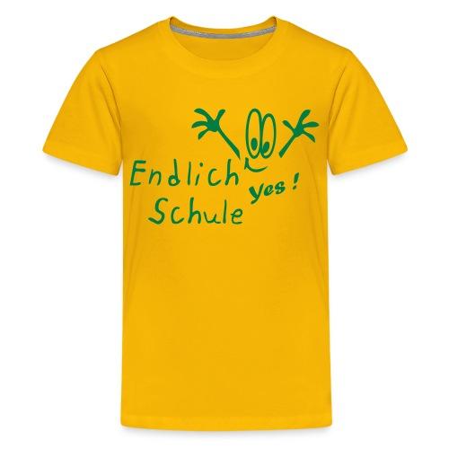 Endlich Schulanfang - Teenager Premium T-Shirt