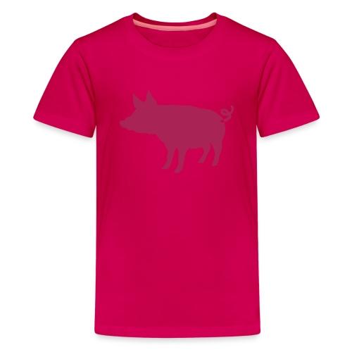 Schweinchen - Piggy - Teenager Premium T-Shirt