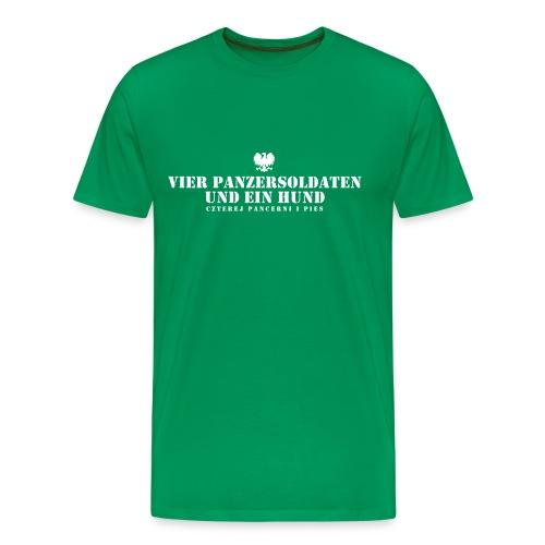 Vier Panzersoldaten und ein Hund T-Shirt Logo - Männer Premium T-Shirt