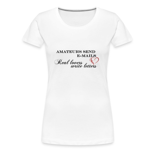 e-mails - loveletters - Premium-T-shirt dam