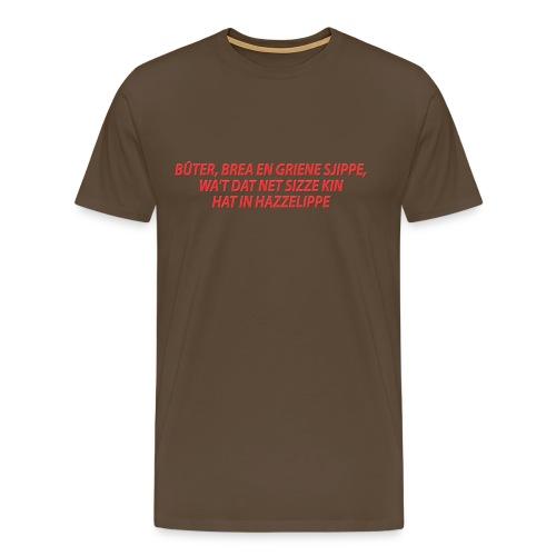Grappige variant op Fries spreekwoord - Mannen Premium T-shirt