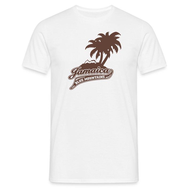 sandfarbenes Männer-Shirt Jamaica Blue Mountains flock - Männer T-Shirt