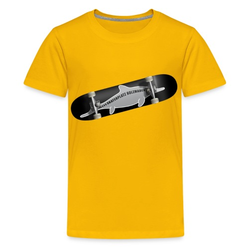 Skateboard Ichthyosaurus Foto Kinder - Teenager Premium T-Shirt