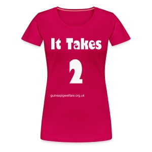 It Takes 2 White Glitter Print - Women's Premium T-Shirt