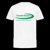 T-Shirts ~ Männer Premium T-Shirt ~ Herren-Shirt von 3XL-5XL mit TimeforNature-Logo rückseitig