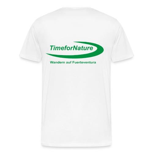 Herren-Shirt von 3XL-5XL mit TimeforNature-Logo rückseitig - Männer Premium T-Shirt