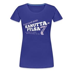 Kanuttapylsa kongeblå (dame) - Premium T-skjorte for kvinner