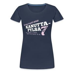 Kanuttapylsa marineblå (dame) - Premium T-skjorte for kvinner