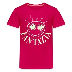 Fantazia Kids  T-shirt with glow in the dark logo - Teenage Premium T-Shirt
