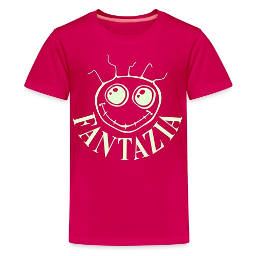 Fantazia Kids  T-shirt with glow in the dark logo - Teenage Premium T-Shirt
