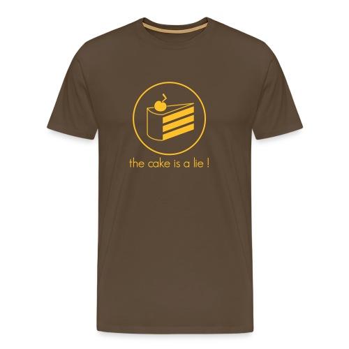 The Cake is a lie!! - Männer Premium T-Shirt
