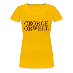 George Orwell Ladies Bibliography T-Shirt - Women's Premium T-Shirt
